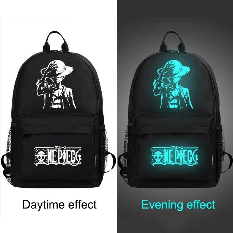 Glow in the dark backpack with USB port