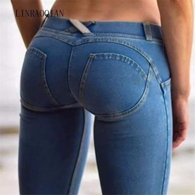 Skinny booty lifting stretch jeans