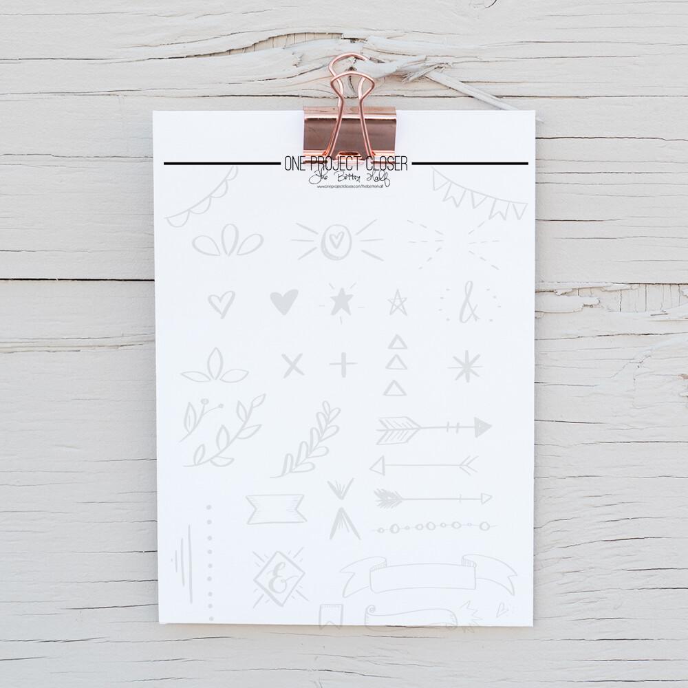 Lettering Practice Sheet- Decorative Elements