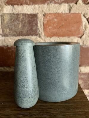 Gray Soapstone Mortar & Pestle