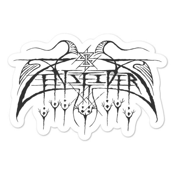 ZZ-Sticker Devil's Design band logo