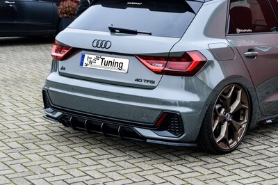 Gefräster Heckansatz + Seitenteile für Audi A1 GB Sportback S-Line ab Bj.2018-