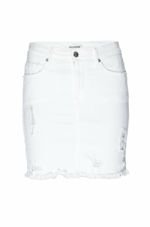 Mini Frayed Skirt Hemmed