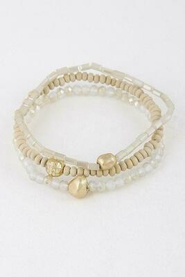 Nude Stackable Bracelet Set
