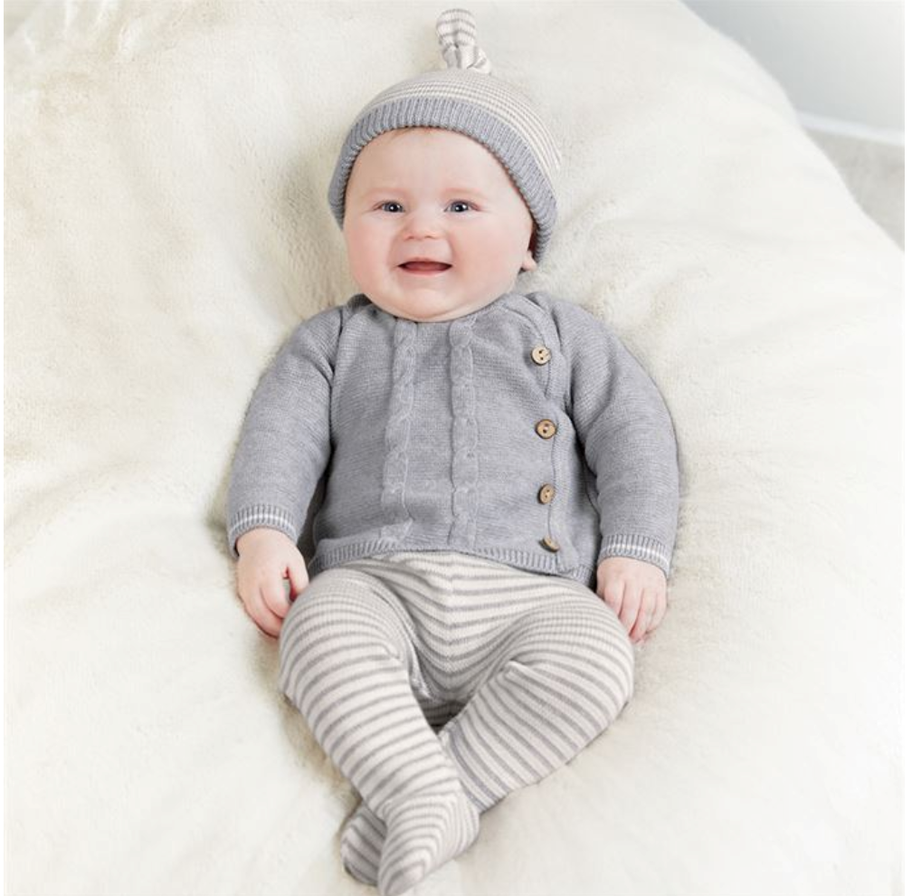 Gray Knit Take-Me-Home Set