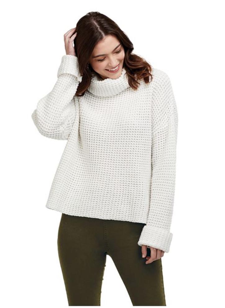 Wendy Waffle Knit Sweater