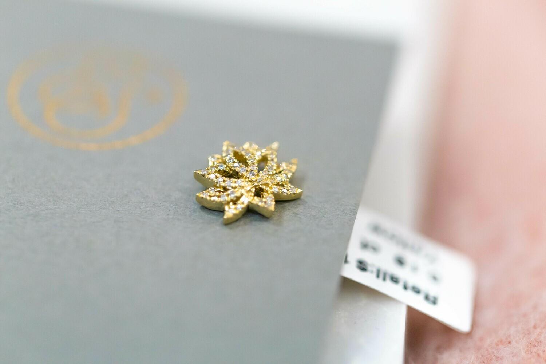 Lotus Flower Diamond Earrings