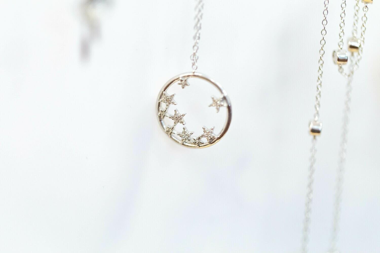 Starlight Diamond Ring-  Size 7