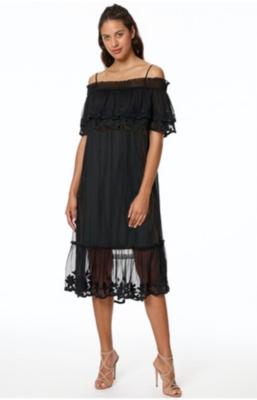 Spin Me Black Lace Dress