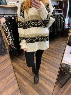 Off White Sweater Gestreift