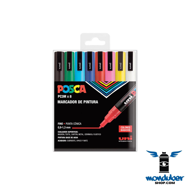 POSCA - PC3M x 8 - Juego de 8 Marcadores de Pintura