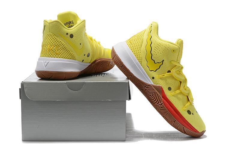 """Spongebob Squarepants X Kyrie 5 """"Spongebob""""  Basketball Shoes"""