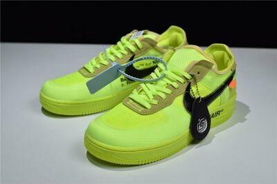 Men's/Women's Air Force 1 Low 'Off-White Volt' Shoes