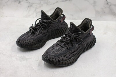 Yeezy 350 Boost V2 Black (Not Reflective) Runner Shoes
