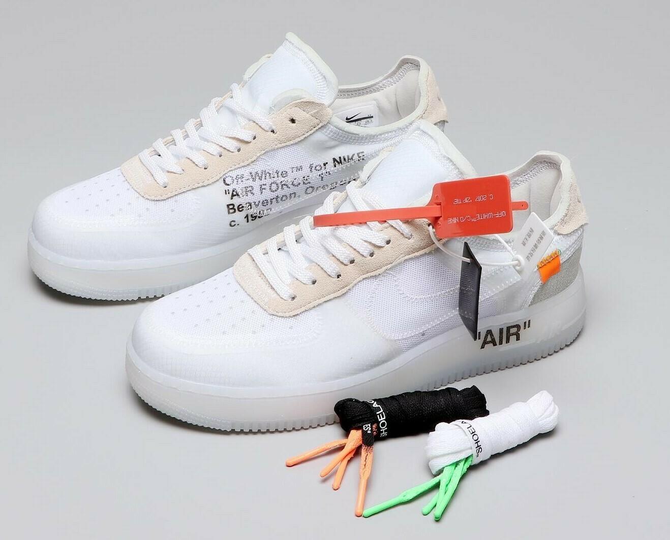 Men's/Women's Air Force 1 X OW Low ' White' Shoes
