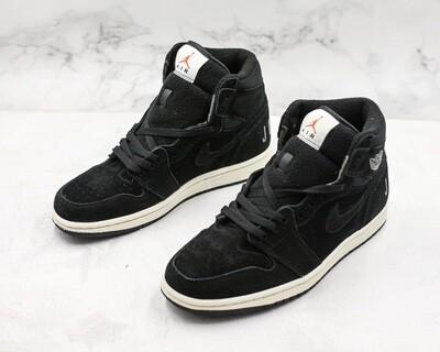 Mens' Air Jordan 1 Retro High OG Basketball Shoes Black