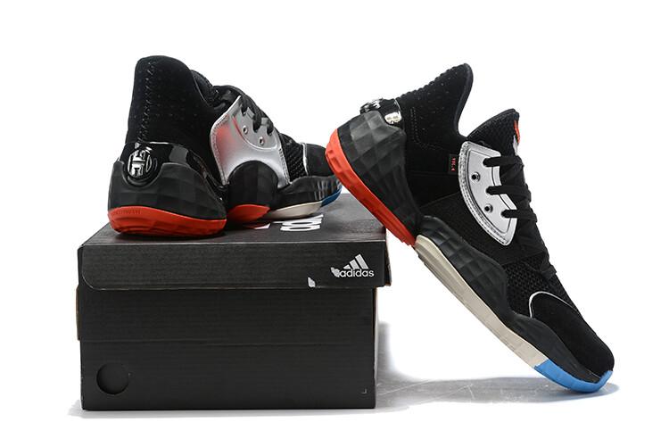 James Harden Basketball Shoes Black Silver