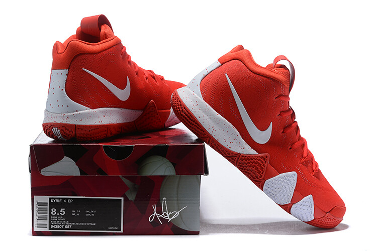 Kyrie 4 Basketball Shoes Red White