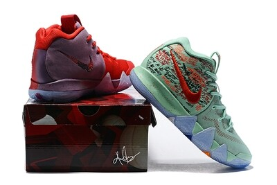 Men's Kyrie 4 Basketball Shoes Ice and Fire Twin