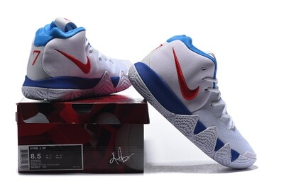 Men's Kyrie 4 Basketball Shoes White Red