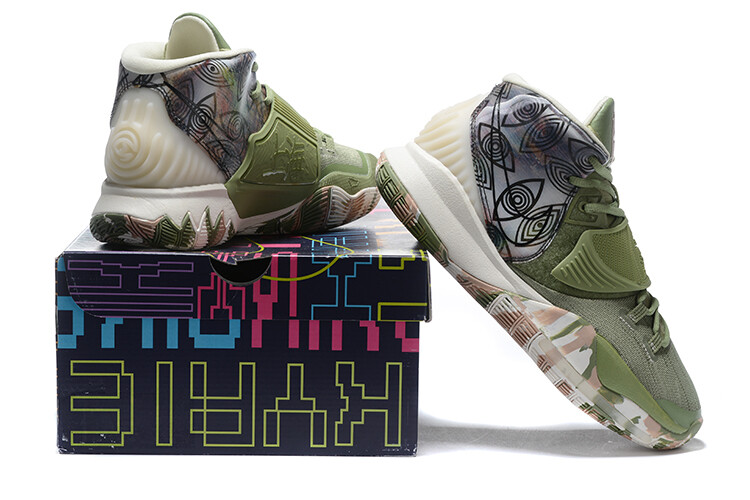 Men's Kyrie Irving  Kyrie 6 Basketball Shoes Flora Green