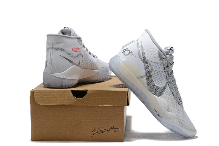 Men's Zoom Kd12  signature Basketball Silver Grey