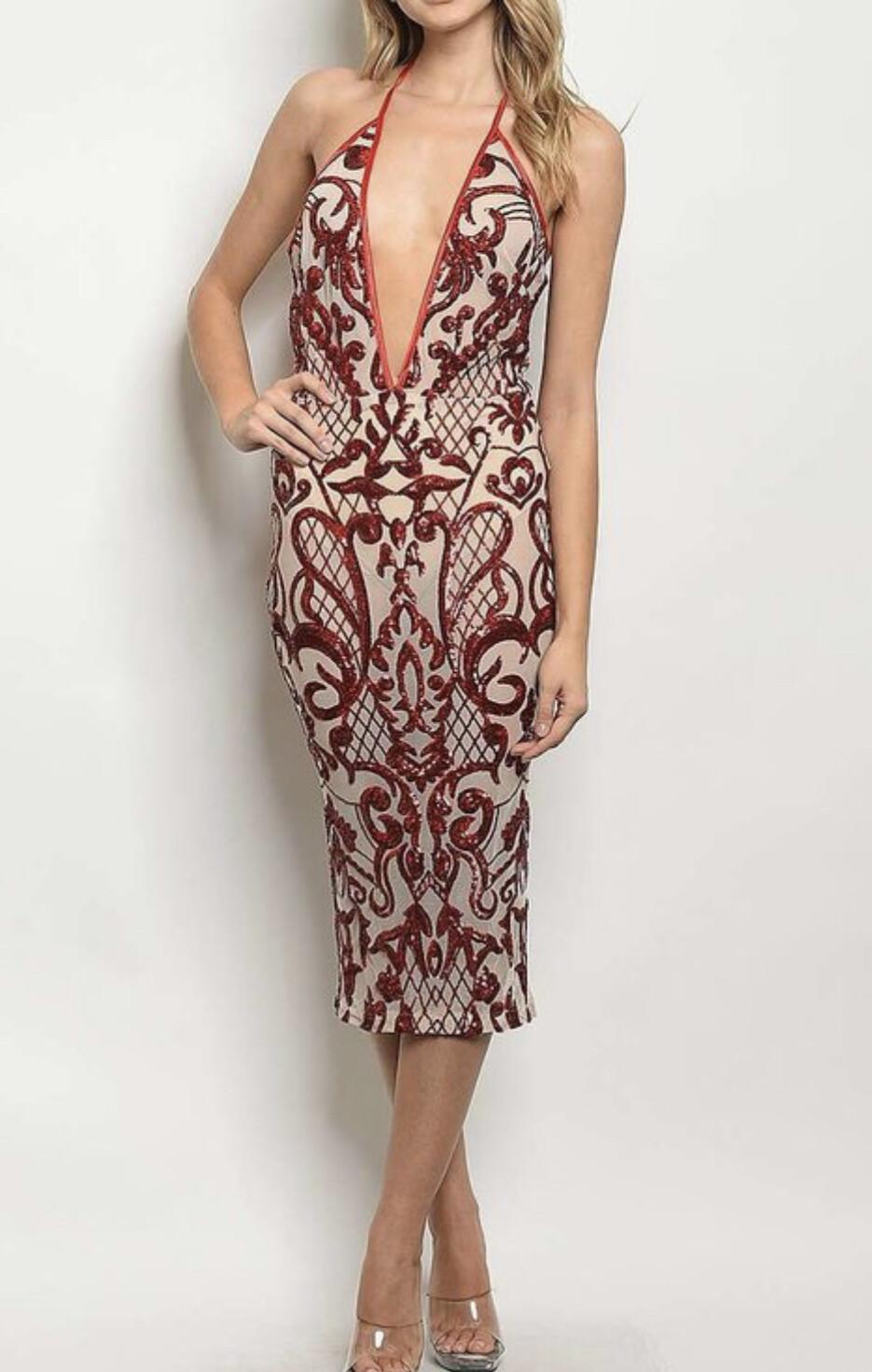 Aim to please, see through sequin dress