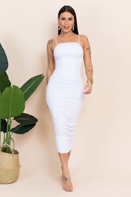 The Angelic Swan White Midi Bodycon dress