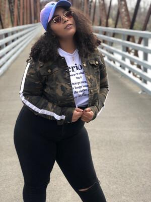 Camo Girl Queen Size denim Jacket