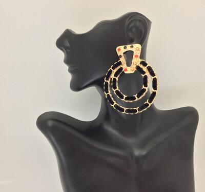 All Black Gala Velvet Earring
