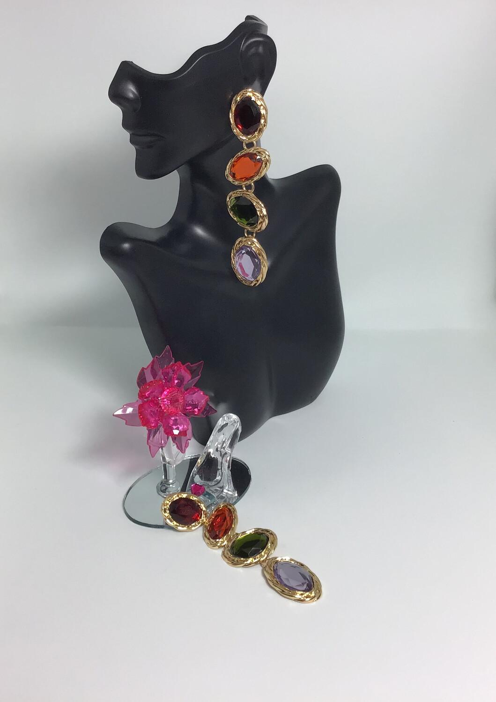 Elegant Rainbow Tear Drop Dangled earrings