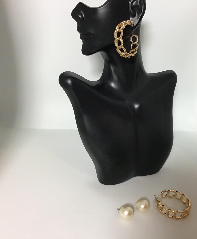 Pearl In Hoop Earrings