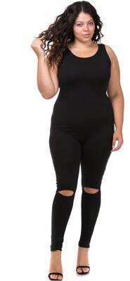Ella Cut out Slim fit jumpsuit bodysuit  Queen Size