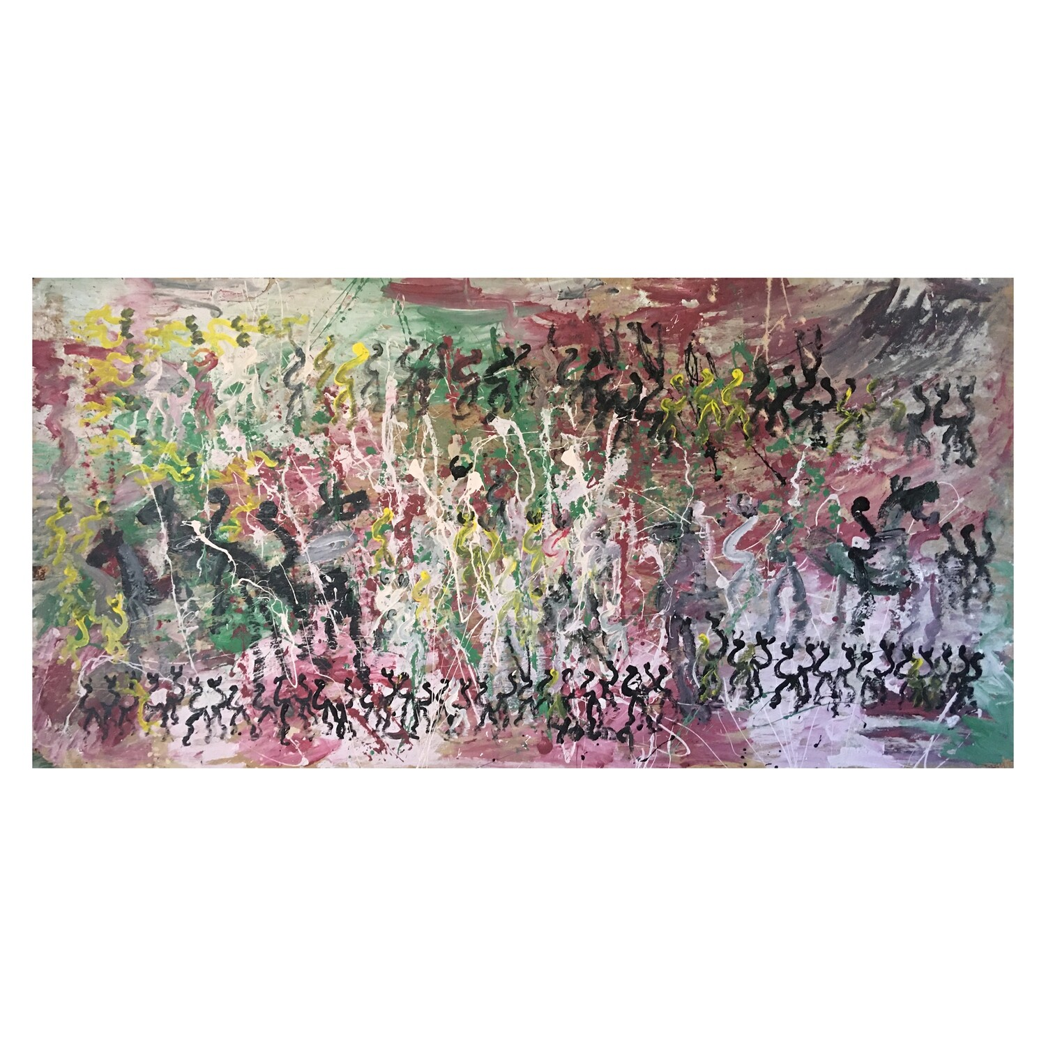 """Purvis Young, """"Inspired by Pollock"""""""