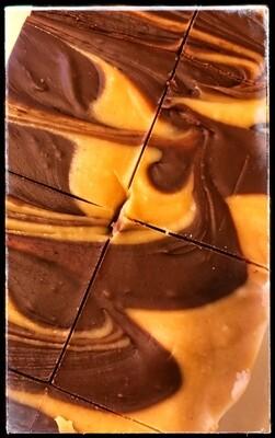 PEANUT BUTTER CHOCOLATE SWIRL FUDGE