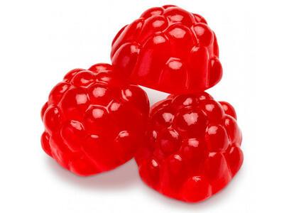 Gummy Red Ripe Raspberries