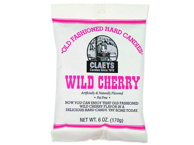 Claey's Old Fashioned Hard Candies - WILD CHERRY DROPS