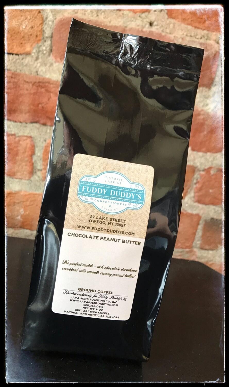 Fuddy Duddy's Peanut Butter & Chocolate Flavored Ground Coffee