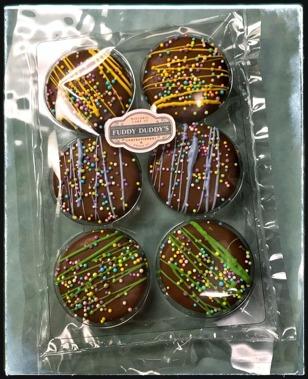 Gourmet Milk Chocolate Dipped Oreo Cookies - Six Pack