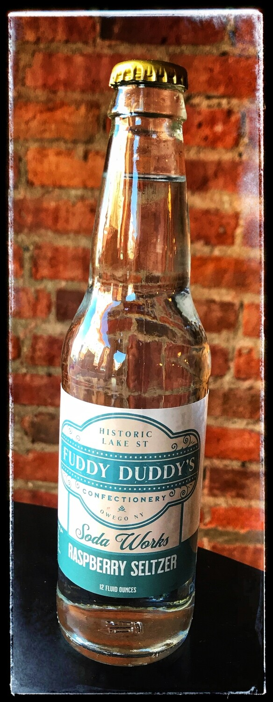 Fuddy Duddy's Raspberry Seltzer Soda