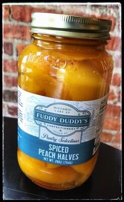 Fuddy Duddy's Spiced Peach Halves - Quart