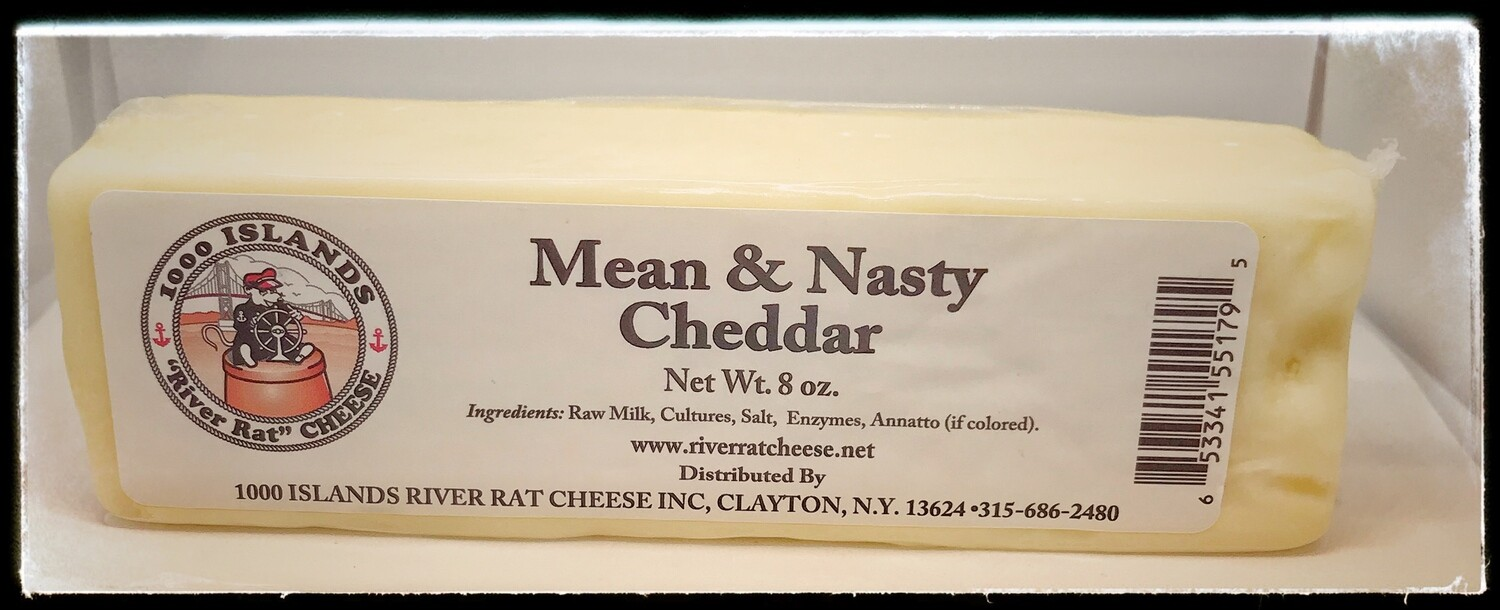 River Rat Mean & Nasty Cheddar Cheese
