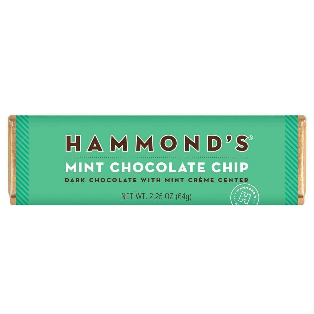 Hammond's Dark Chocolate Mint Chocolate Chip Bar