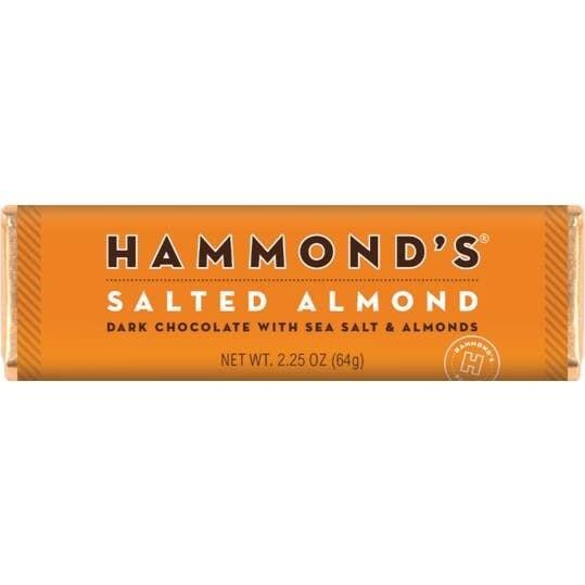 Hammond's Dark Chocolate Salted Almond Bar