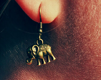 Bronze Elephant Earrrings