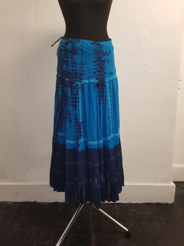 Jordash blue tie-dye skirt