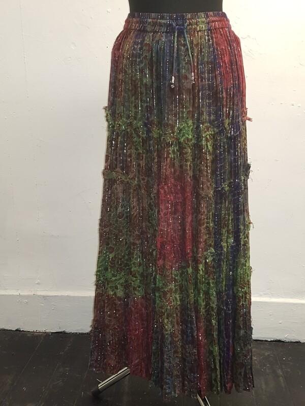 Jordash multi tie-dye skirt