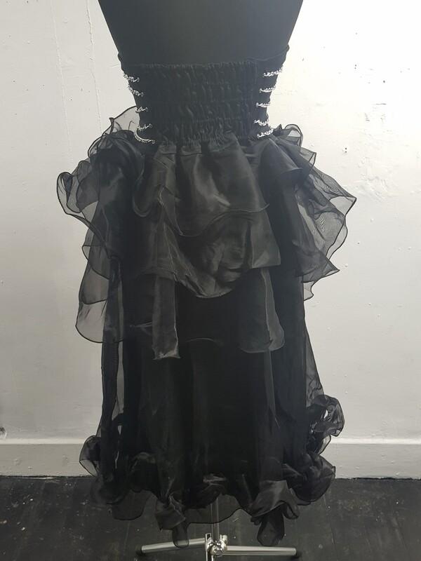 Gothic under bust dress