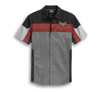 Harley-Davidson® Men's Performance Mesh Panel Short Sleeve Shirt