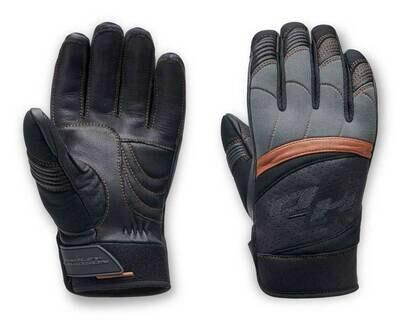 Harley-Davidson® Men's Killian Mixed Media Colorblocked Gloves